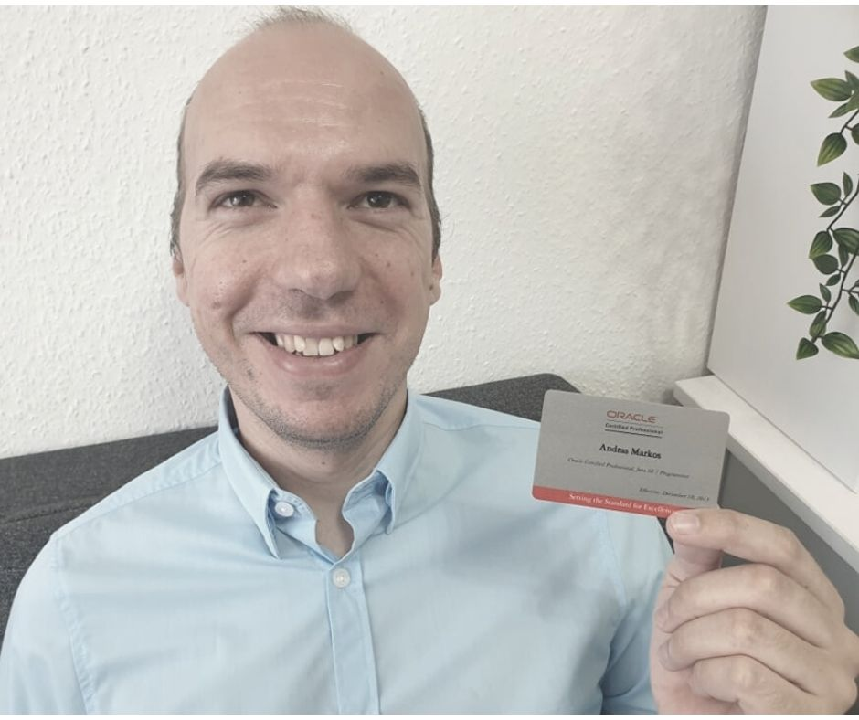 Oracle Certified Professional vizsgakártya