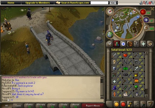 Java programnyelven íródott játék, a RuneScape videójáték