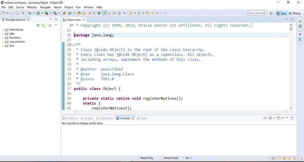 Integrált fejlesztői környezetek - Eclipse világos téma