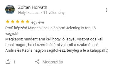 Horváth Zoltán véleménye a Google térképen