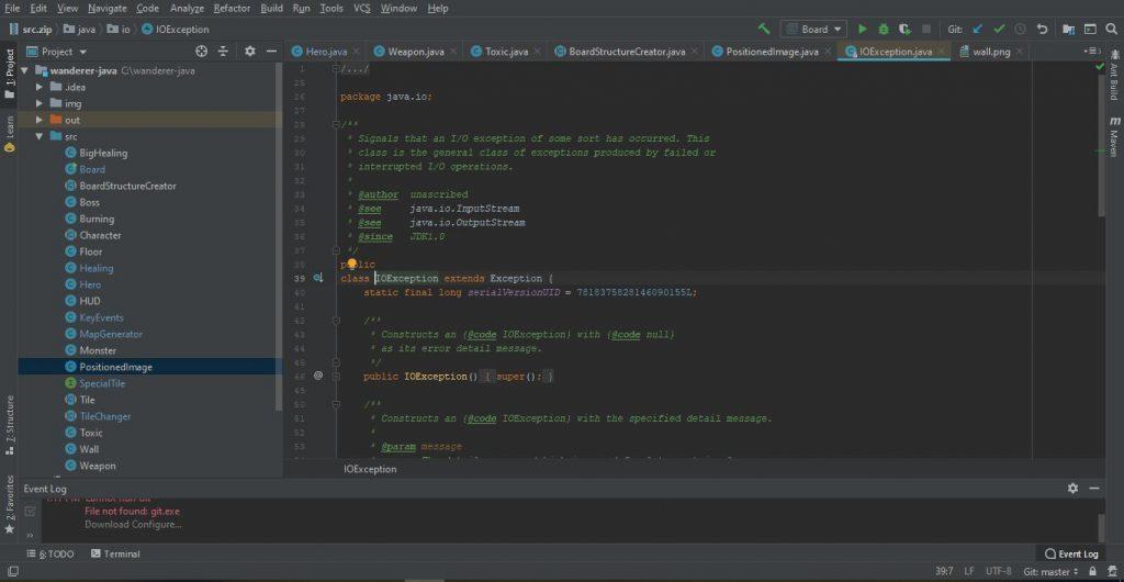 Integrált fejlesztői környezetek - IntelliJ Community sötét téma