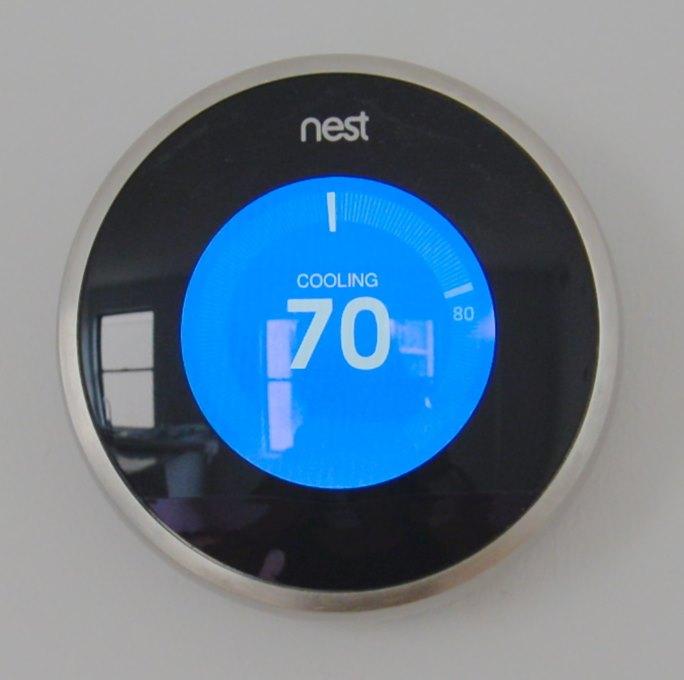 A Java technológiát alkalmazó Nest termosztát képe